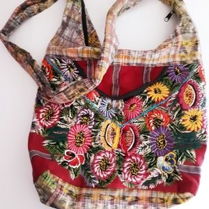 Embroidered Boho Floral Guatemalan Shoulder Bag